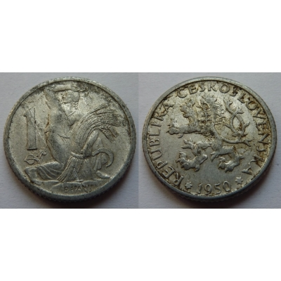 1 koruna 1950