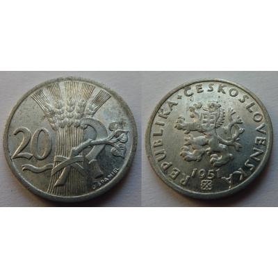 20 haléřů 1951