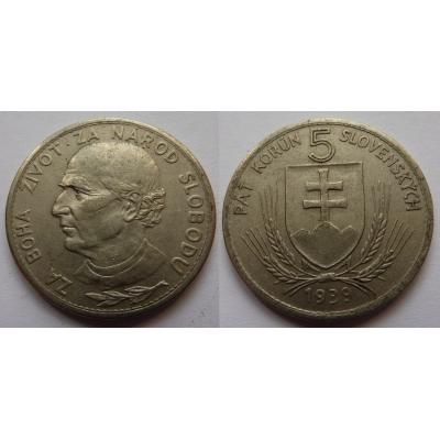 Slovenský štát - 5 korun 1939, VARIANTA