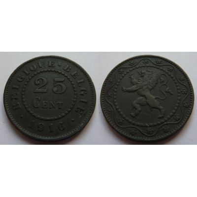 25 Centimes 1916