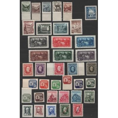 Slovenský štát (1939-1945) - partie známek