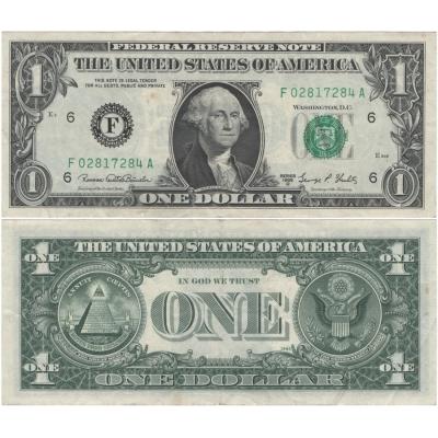 Spojené státy americké - bankovka 1 dolar 1969 F6