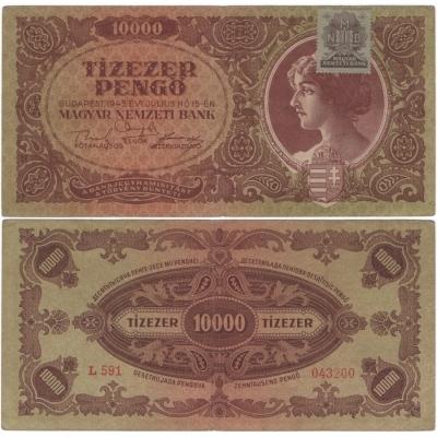 Maďarsko - bankovka 10 000 Pengo 1945