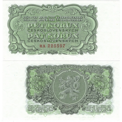 5 korun 1953 UNC