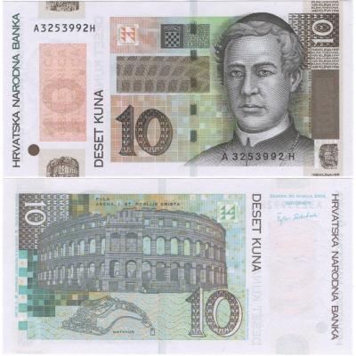 Chorvatsko - bankovka 10 kuna 2004 UNC, série A