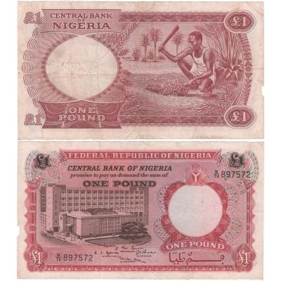 Nigérie - bankovka 1 libra