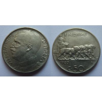 Italské království - 50 centesimi 1920