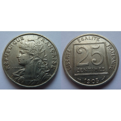 Francie - 25 centimes 1903