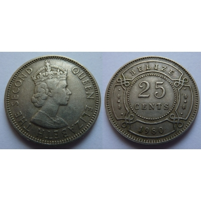 Belize - 25 cents 1980