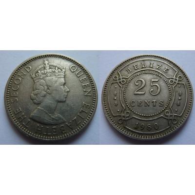 Belize - 25 cents 1980