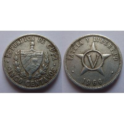 Kuba - 5 centavos 1966