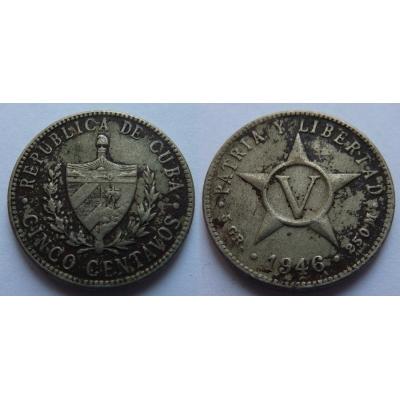 Kuba - 5 centavos 1946