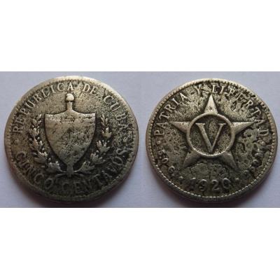 Kuba - 5 centavos 1920