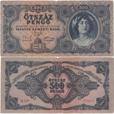 Maďarsko - bankovka 500 Pengö 1945