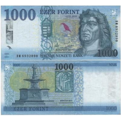 Maďarsko - bankovka 1000 forint 2017