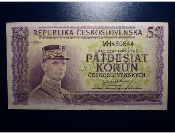 50 korun 1945 série MH neperforovaná