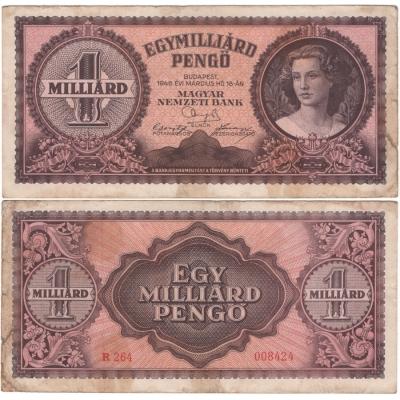 Maďarsko - bankovka 1 Miliard Pengo 1946