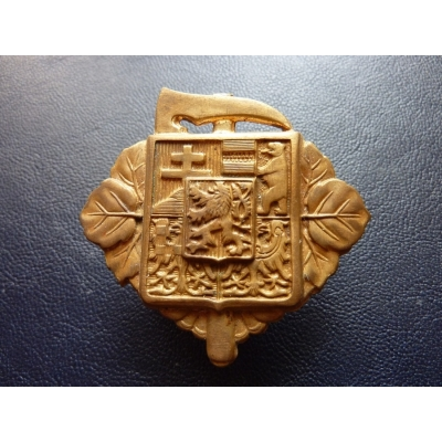 Czechoslovakia - fireman's badge on his cap, the first republic, the original