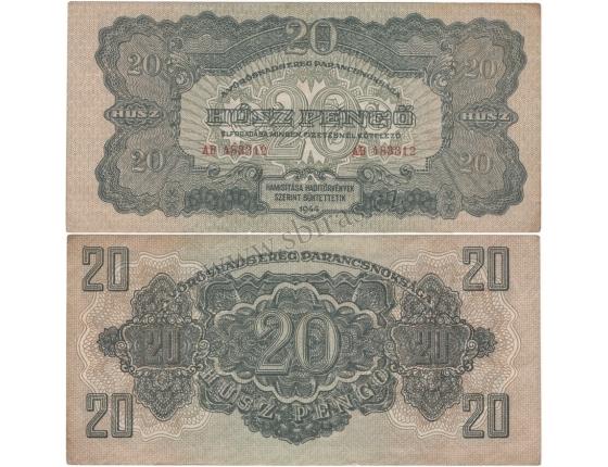 Maďarsko - bankovka rudé armády 20 pengo 1944