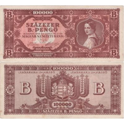 Maďarsko - bankovka 100 000 Pengo 1946