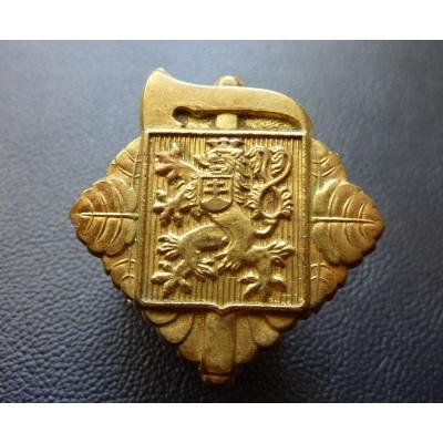 Protektorát Čechy a Morava - hasičský čepicový odznak, originál
