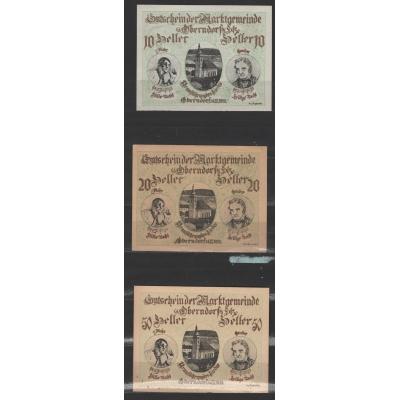 Rakousko - sada nouzových bankovek Oberndorf