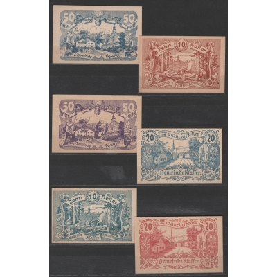 Rakousko - sada nouzových bankovek Klaffer