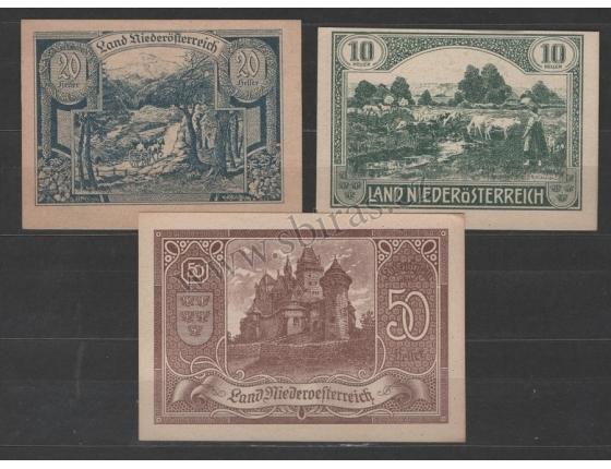 Rakousko - sada nouzových bankovek