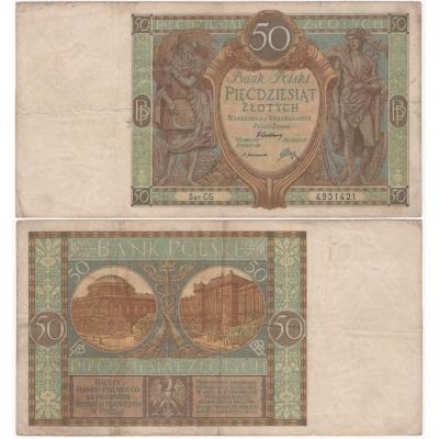 Polsko - bankovka 50 Zlotych 1929