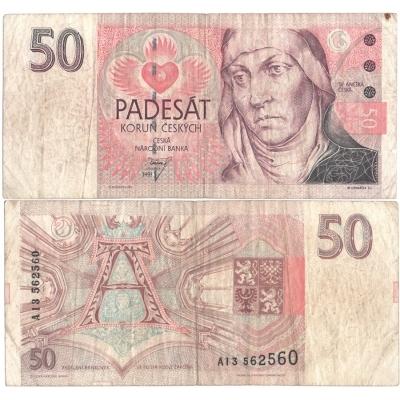 50 korun 1993, série A