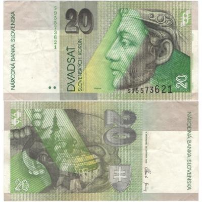 Slovensko - bankovka 20 korun 2006