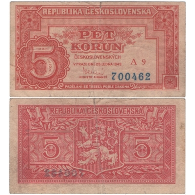 5 korun 1949