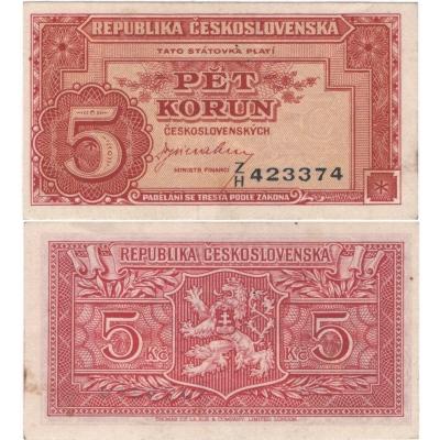5 korun 1945