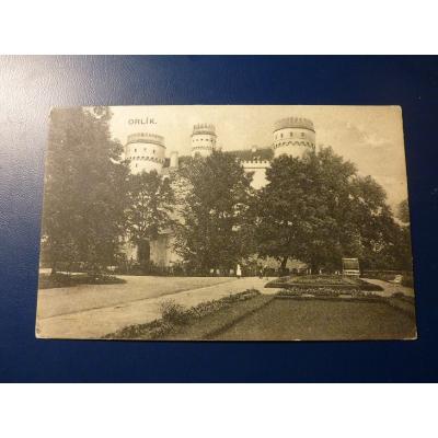 Československo - pohlednice Zámek Orlík 1928