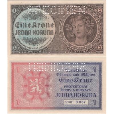 1 koruna 1940 UNC
