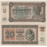 Slovenský štát - bankovka 20 korun 1942, neperforovaná, série Cg