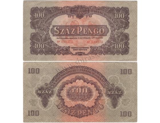 Maďarsko - bankovka rudé armády 100 pengo 1944