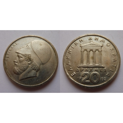 Řecko - 20 Drachem 1982