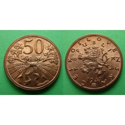 50 haléřů 1947 RL