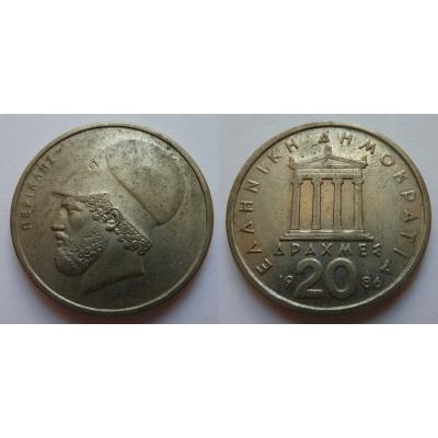 Řecko - 20 Drachem 1986