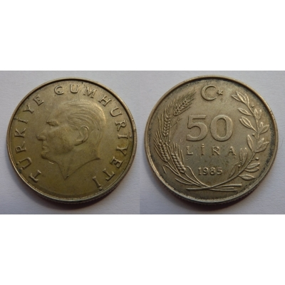 Turecko - 50 lira 1985