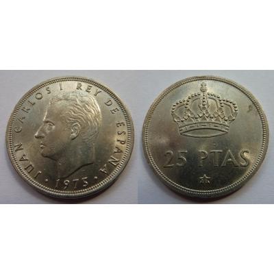 Španělsko - 25 pesetas 1975