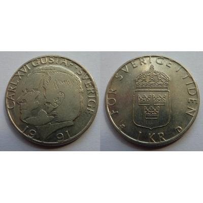 Švédsko - 1 Krone 1991