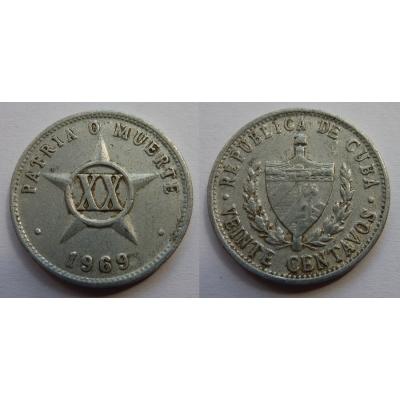 Kuba - 20 Centavos 1969