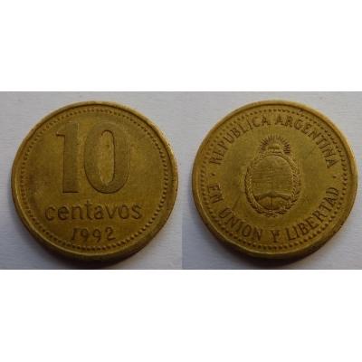 Argentina - 10 Centavos 1992