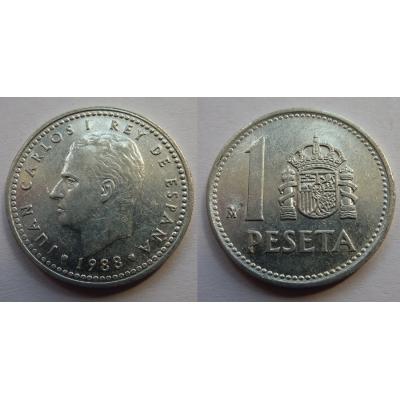 Španělsko - 1 peseta 1988