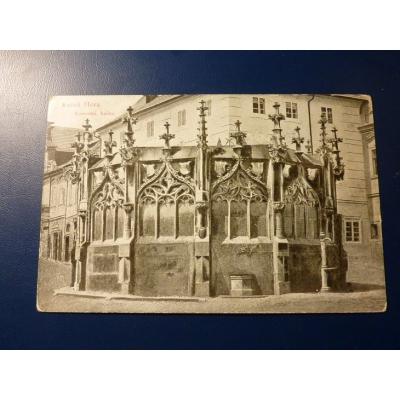Rakousko-Uhersko - pohlednice Kutná Hora - Kamenná kašna 1914
