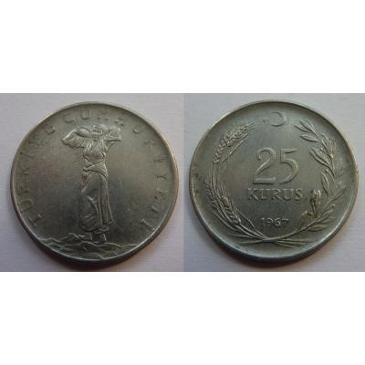 Turecko - 25 kurus 1967
