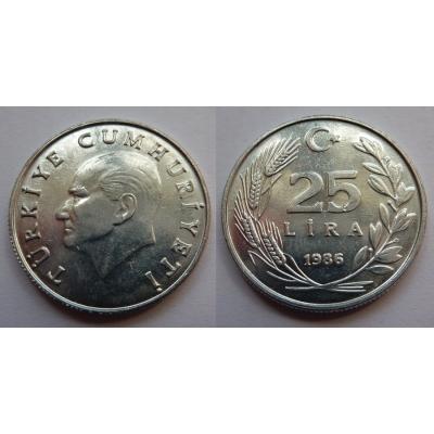 Turecko - 25 Lira 1986