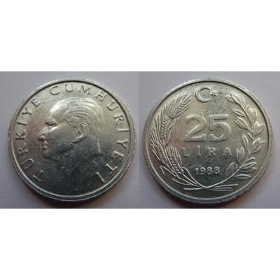 Turecko - 25 Lira 1988